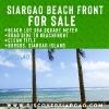384 sqm Burgos Beach Front Siargao For Sale