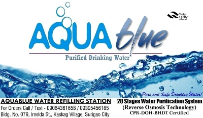 Ads - SERVICES - SURIGAO AQUABLUE WATER REFILLING STATION