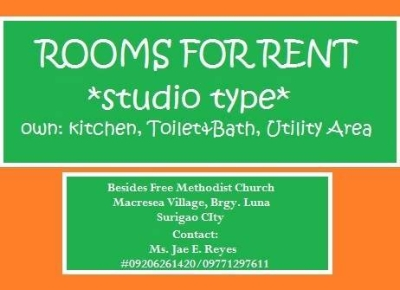 Ads - Real Estate For Rent - Surigao Room For Rent Studio Type