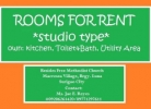Surigao Room For Rent Studio Type