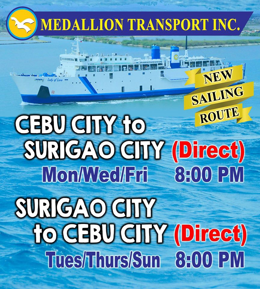 cebu to surigao boat | ferry schedule