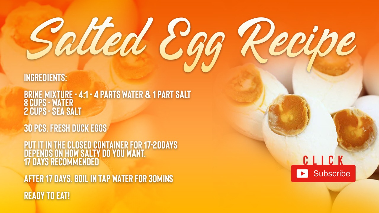 salted egg recipe | pinoy recipe